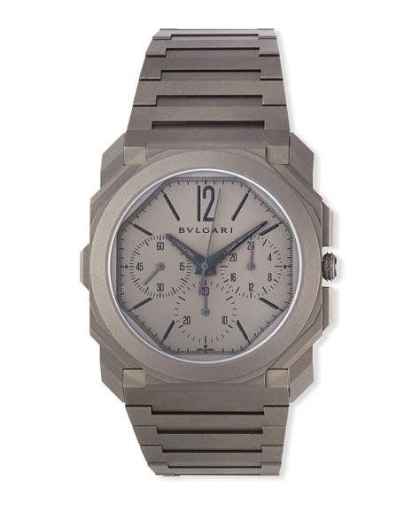 BVLGARI Men's 42mm Octo Finissimo Chronograph Watch in Titanium
