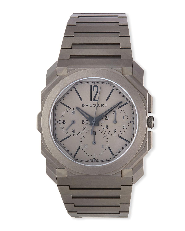 Men's 42mm Octo Finissimo Chronograph Watch in Titanium