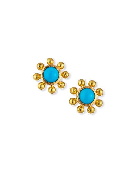 Elizabeth Locke 19k Sleeping Beauty Turquoise Earrings