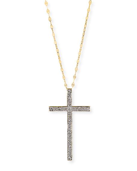Lana Mega Flawless 14k Diamond Cross Amulet Necklace