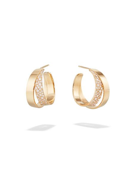 Lana 14k Flawless Double Vanity Hoop Earrings w/ Diamonds, 20mm