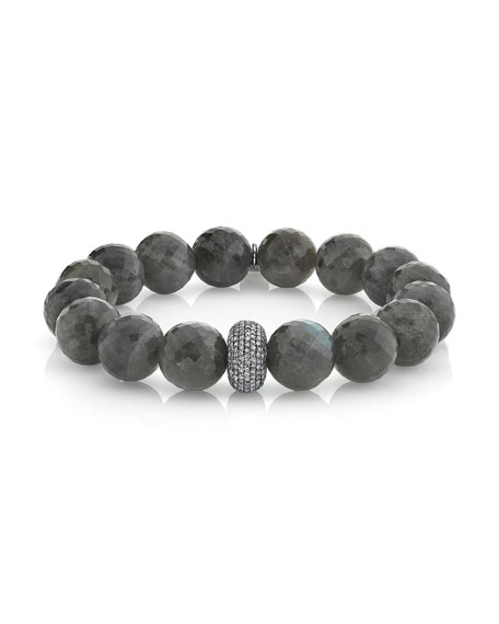 Sheryl Lowe Diamond-Donut Labradorite Bracelet