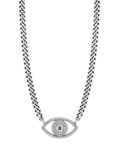 Diamond Evil Eye Pendant Necklace