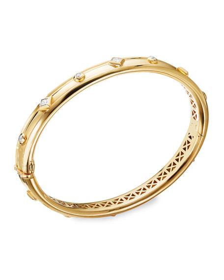 David Yurman Modern Renaissance 18k Diamond Bracelet, Size S