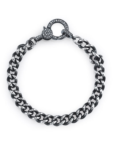 Curb-Link Diamond-Claw Bracelet