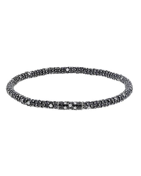 Roberto Demeglio GIOCONDA 18k White Gold Black & White Diamond Stretch Bracelet
