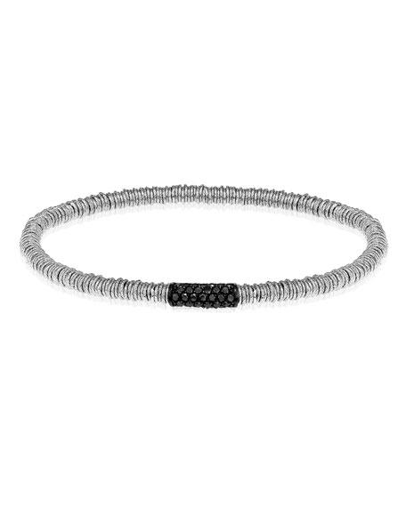 Roberto Demeglio JOY 18k White Gold Black Diamond Stretch Bracelet