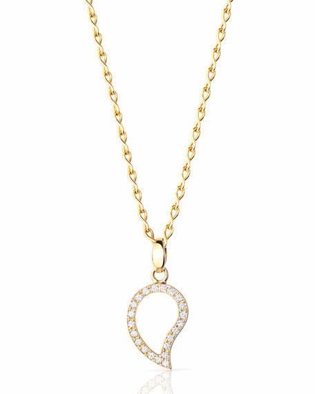 Tamara Comolli Signature 18k Yellow Gold Small Diamond Pendant