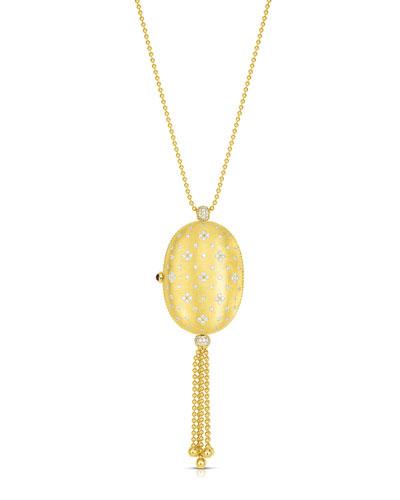 18k Venetian Princes Pillbox Locket Necklace