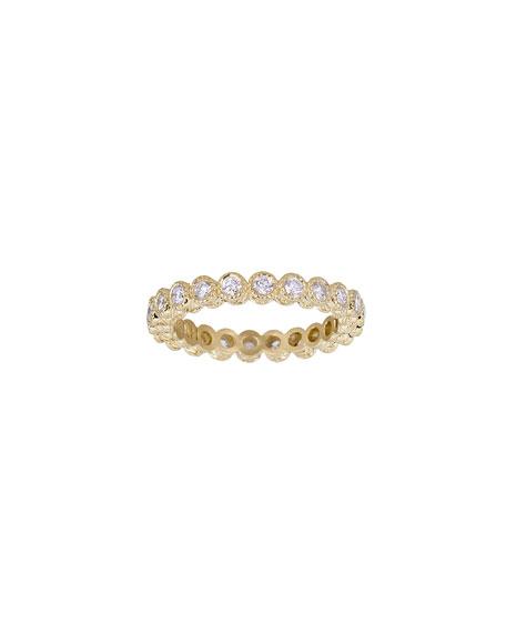 Tanya Farah 18K Modern Etruscan White Diamond Stack Ring