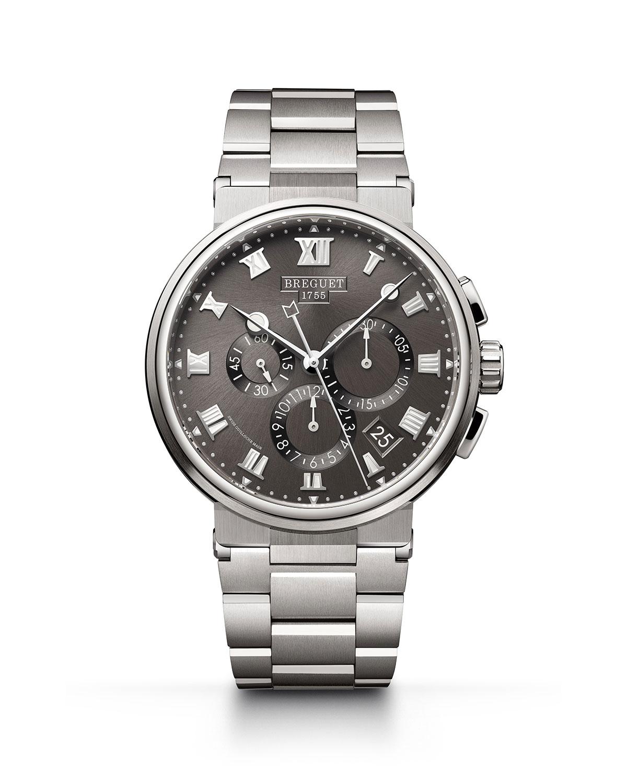 42mm Marine Titanium Chronograph Watch w/ Bracelet Strap