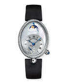 Breguet 18k White Gold Moon Phase Diamond Watch