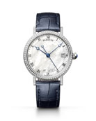 Breguet Classique 33.5mm 18k White Gold Diamond Watch