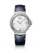Breguet La Marine 33.8mm Diamond Mother-of-Pearl Watch w/