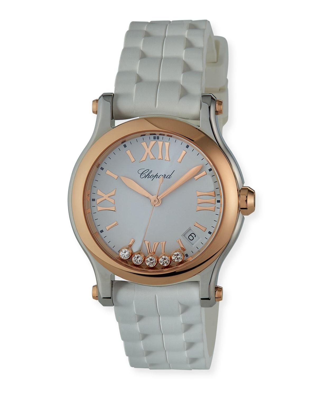 36mm Happy Sport Interchangeable 2-Tone Watch w/ Diamonds
