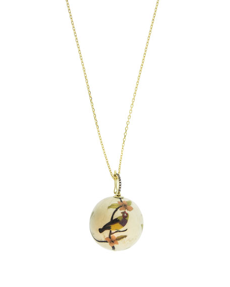 Silvia Furmanovich 18k Diamond Marquetry Bird Ball Necklace