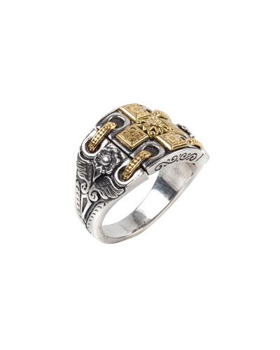 Calypso Sterling Silver Ring w/ 18k Gold