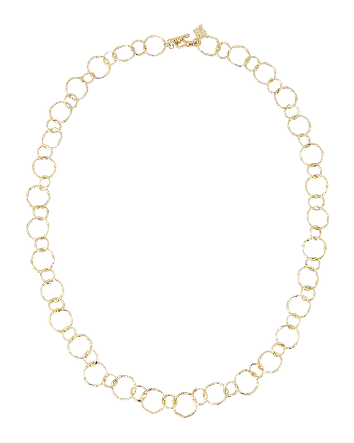 Armenta Accessories 18K YELLOW GOLD CIRCLE NECKLACE, 18""
