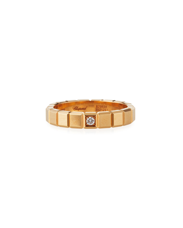 18k Rose Gold 1-Diamond Ice Cube Ring
