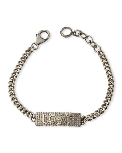 Diamond Pave LOVE Chain Bracelet