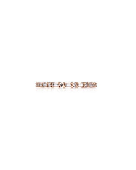 Stevie Wren 14k Rose Gold Diamond Baguette Eternity Ring, Size 7