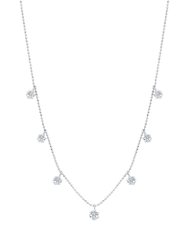 Medium Floating Diamond Necklace