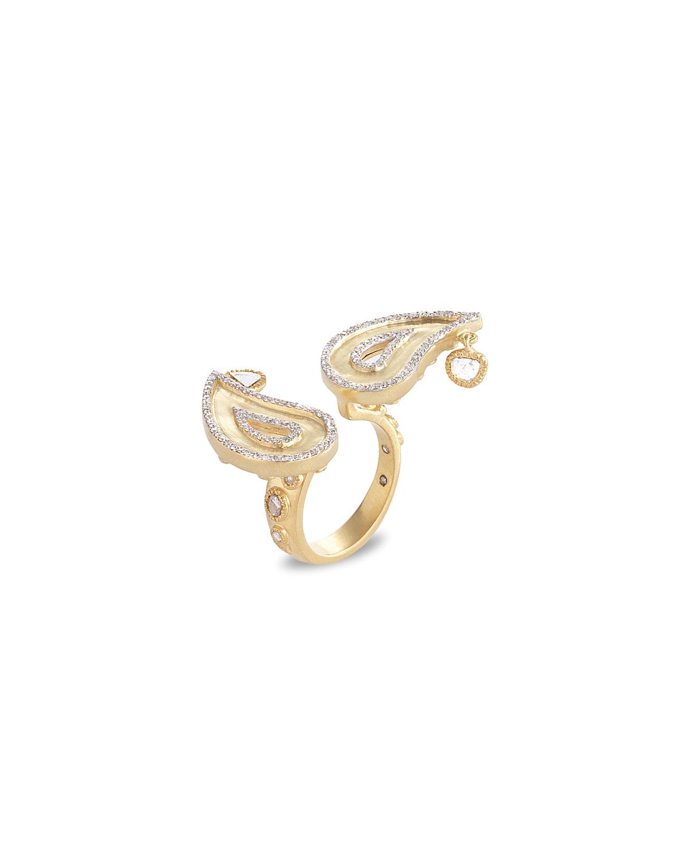 Affinity 20K Double-Paisley Diamond Ring