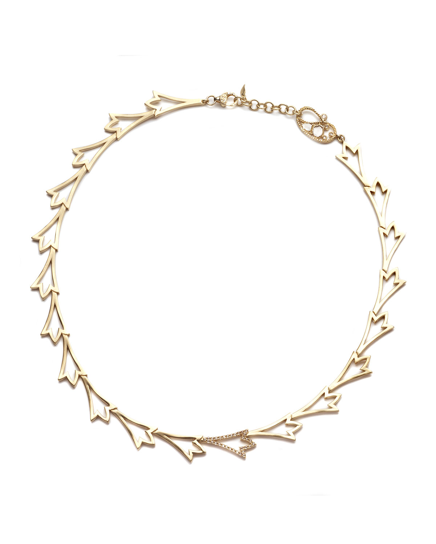 20K Sagrada Labyrinth Diamond Necklace