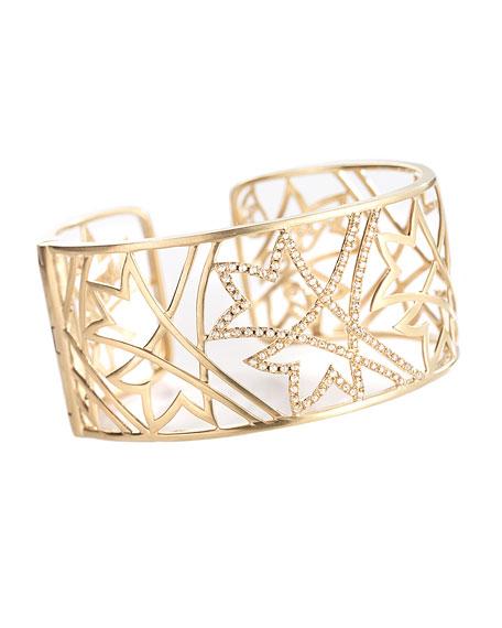 COOMI 20K Sagrada Labyrinth Diamond Cuff