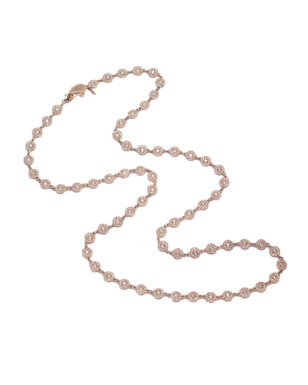 Eternity 18k Rose Gold Long Opera Diamond Necklace