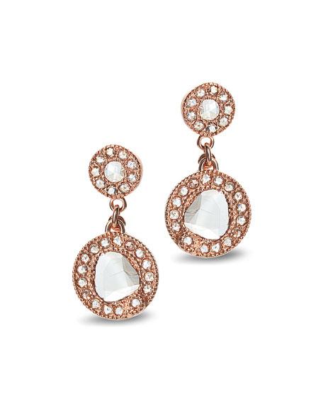 COOMI Eternity 18k Rose Gold Diamond Drop Earrings