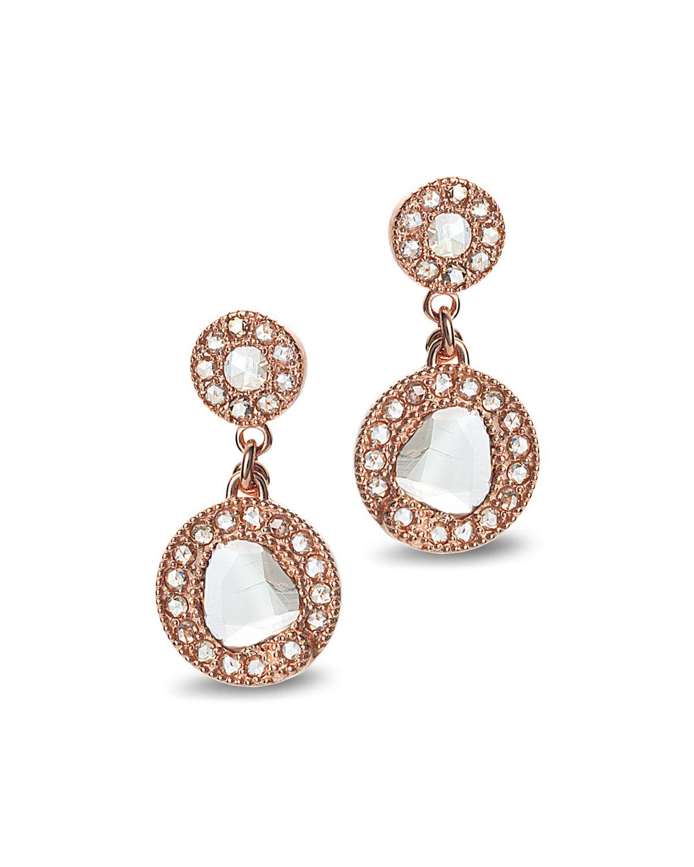Eternity 18k Rose Gold Diamond Drop Earrings