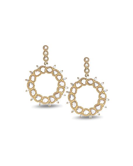 COOMI Luminosity 20K Diamond Front Hoop Earrings