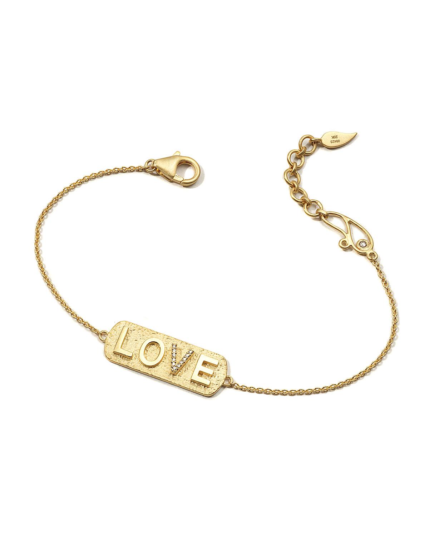 20K Sagrada Passion Diamond Love Bracelet