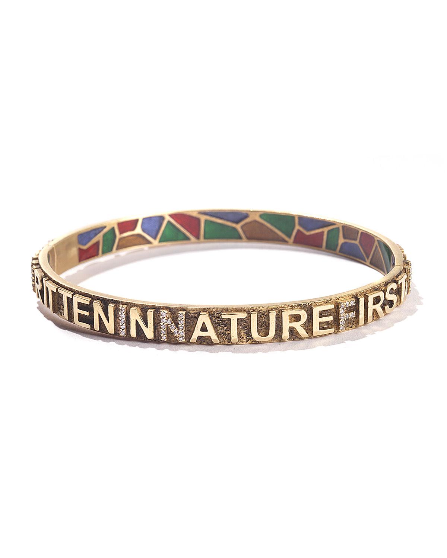"20K Sagrada Passion ""Nature First"" Diamond Bracelet"