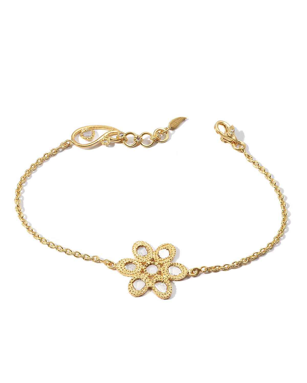 Affinity 20K Diamond-Flower Chain Bracelet