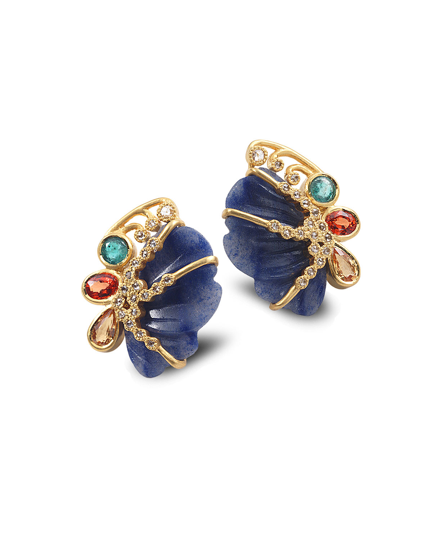Affinity 20k Butterfly Dumortierite Stud Earrings