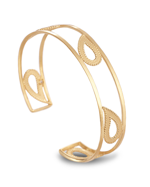 Affinity 20k Paisley Wire Cuff Bracelet