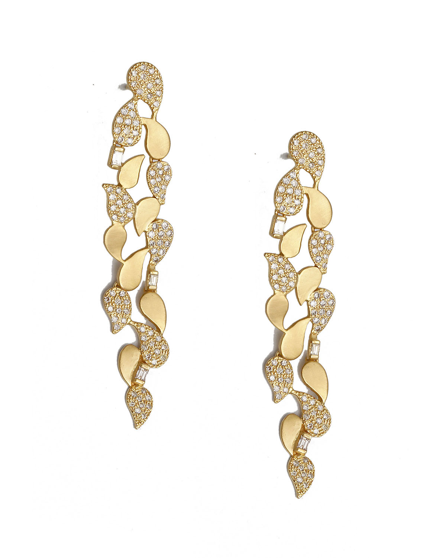 Affinity 20k Paisley Diamond Pave Earrings