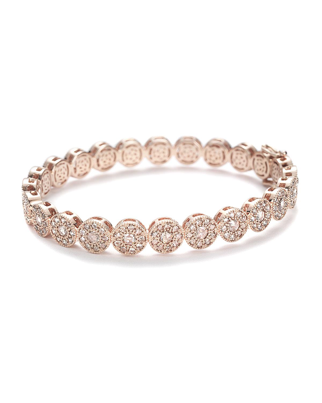 Eternity 18k Rose Gold Bracelet w/ Diamonds