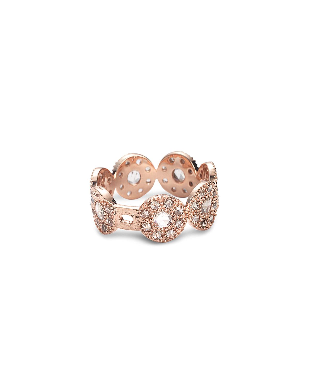 Eternity 18k Rose Gold Opera Band Ring w/ Diamonds