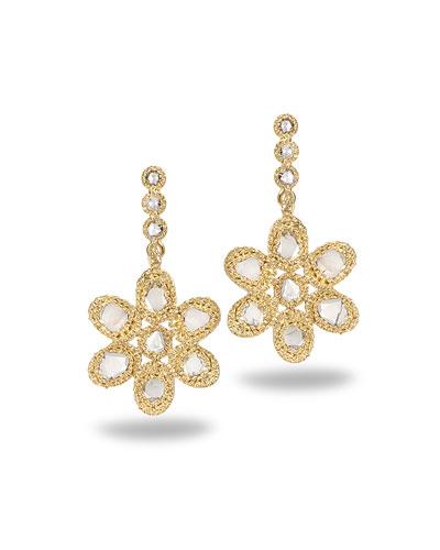 Affinity 20K Diamond Flower Earrings