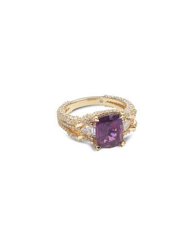 Trinity 20k Alexandrite Ring, Size 7