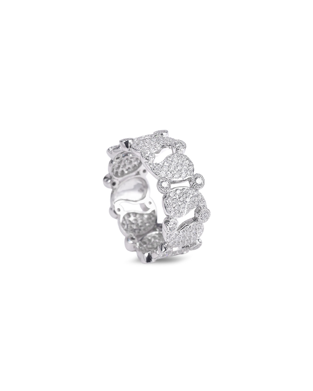 Vitality 18k White Gold Diamond Band Ring