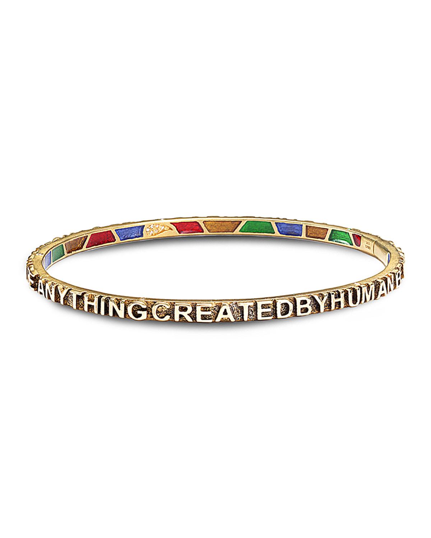 Sagrada Passion Text Bracelet w/ Diamonds