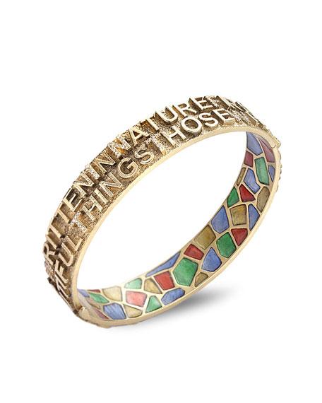 COOMI Sagrada Passion 2-Row Text Bracelet w/ Diamonds