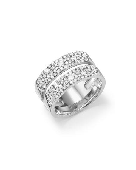 Lana 14k White Gold Flawless Diamond Double Vanity Ring, Size 7