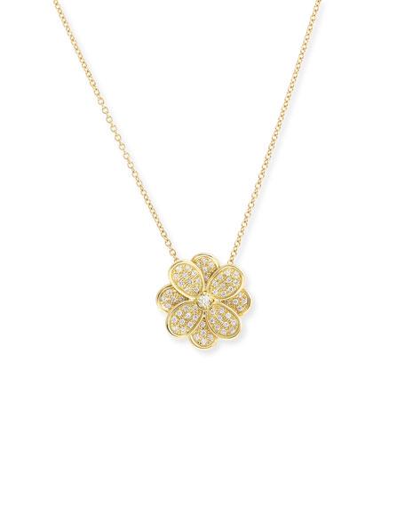 Marco Bicego 18K Yellow Gold Diamond Petali Small Pendant Necklace