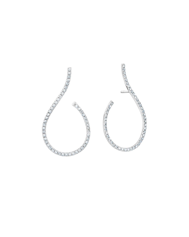 18k Diamond Mega Swirl Earrings