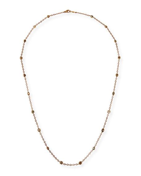 Rahaminov Diamonds 18k Rose Gold Diamond By-the-Yard Necklace
